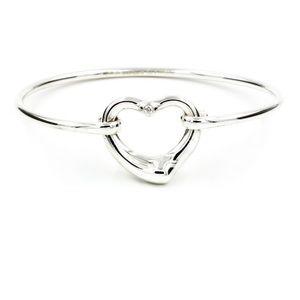 Tiffany & Co Open Heart Diamond Bangle Bracelet